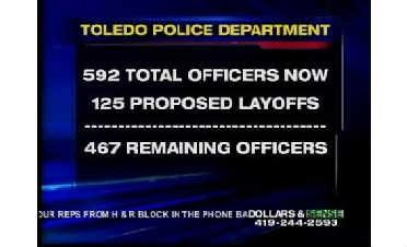 125 Toledo Police Employees Receive Layoff Notices