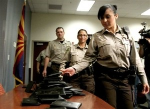 Arizona Sheriff's Officers Turn in Federal Credentials
