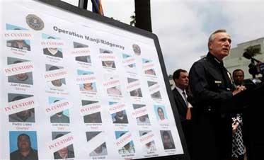 Feds arrest head of anti-gang group in LA