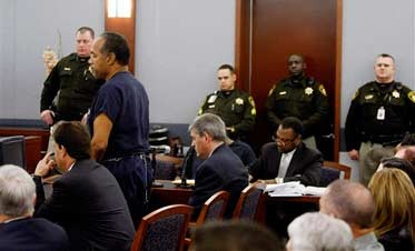 O.J. Simpson Sentenced to as Much as 33 Years