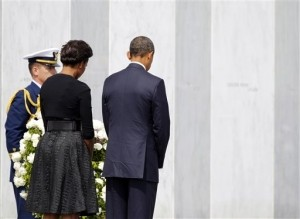 President, First Lady Honor Victims of 9/11 Attacks at All Sites