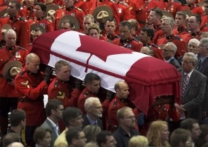 Thousands Attend Funeral for RCMP Officers