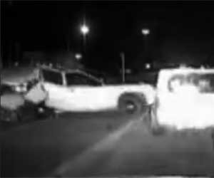 Video: Lubbock, Texas, Officer Whisks Woman to Safety