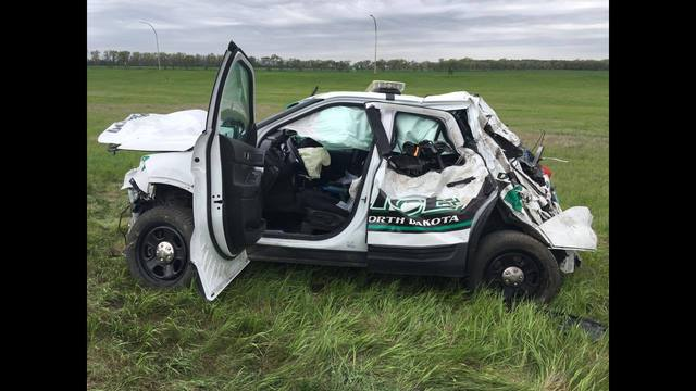 North Dakota Police Car Stolen and Crashed In Minnesota