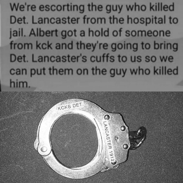 Kansas City Police Obtain Slain Detective's Handcuffs To Use On Man Accused Of Killing Him