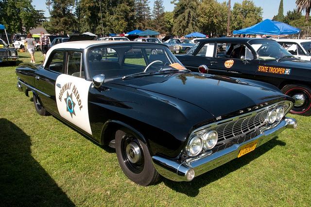 Jay Leno On Patrol In A 1961 Dodge Polara Police Car