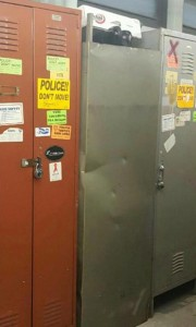 This NYPD Locker Was Turned Upside Down And The Image Was Posted To Facebook.