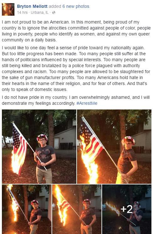 Man Charged With Desecrating American Flag After Facebook