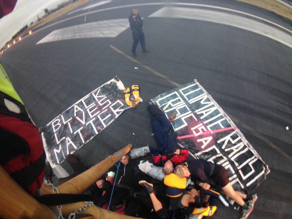 Black Lives Matter Protest Stops Flights at London Airport