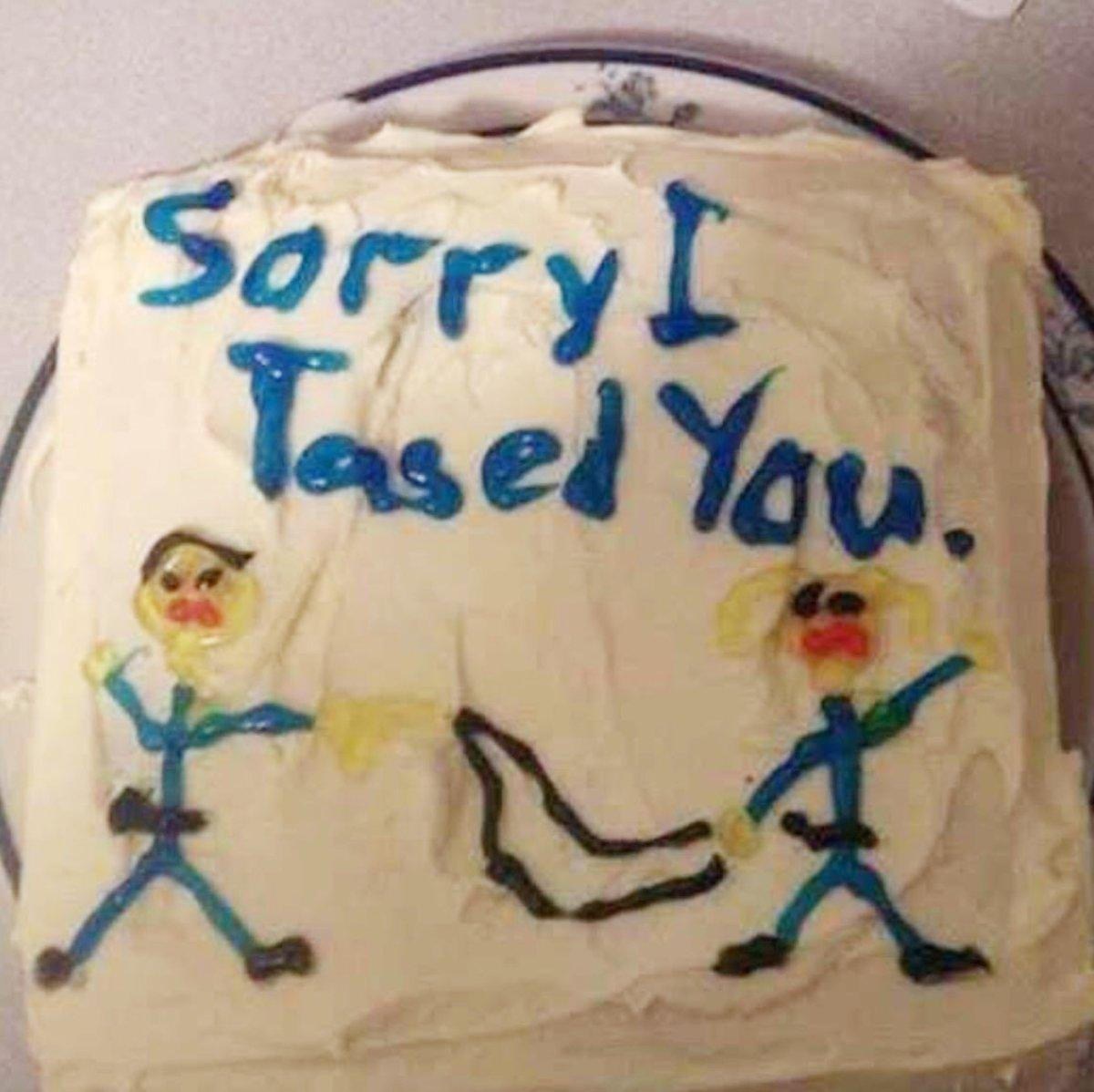 Woman Says Cop Tried To Apologize With 'Sorry I Tased You' Cake
