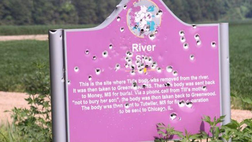 Historical Marker Honoring Emmett Till Riddled With Bullet Holes