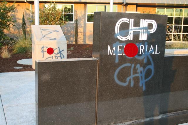 CHP Officer Memorial Defaced