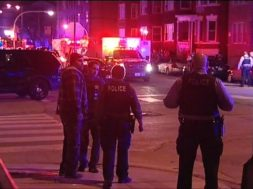 Scene of Chicago Police Shootout, 2016