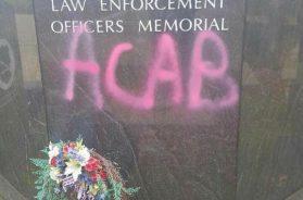 Allegheny County Law Enforcement Memorial Vandalized