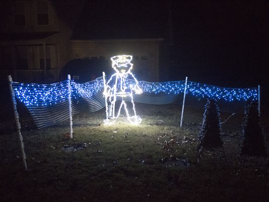 Man Honors Law Enforcement With 'Blue Christmas'