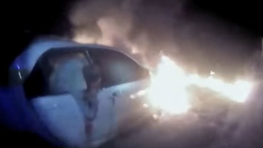Watch: Florida Deputy Rescues Man From Burning Car