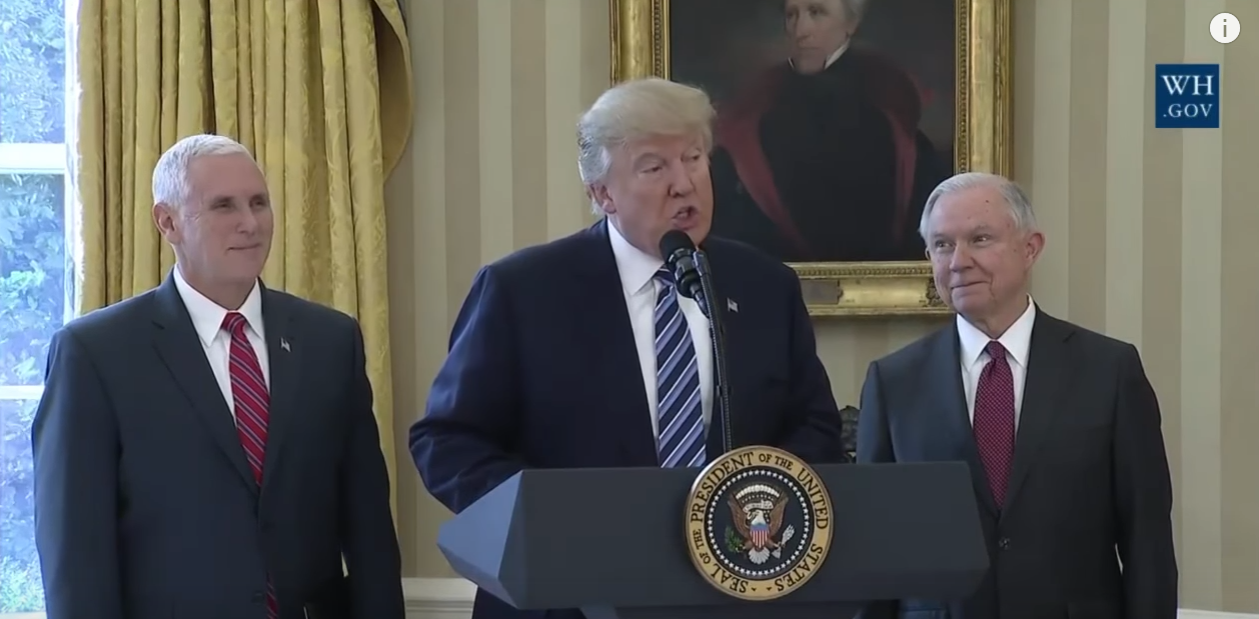 President Trump Signs Executive Action To Prevent Crime Against Law Enforcement
