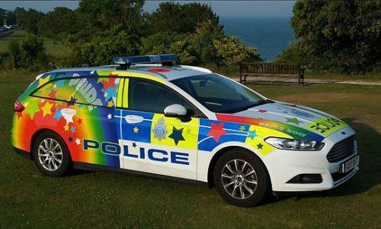 "Police ""gay-mobile"""