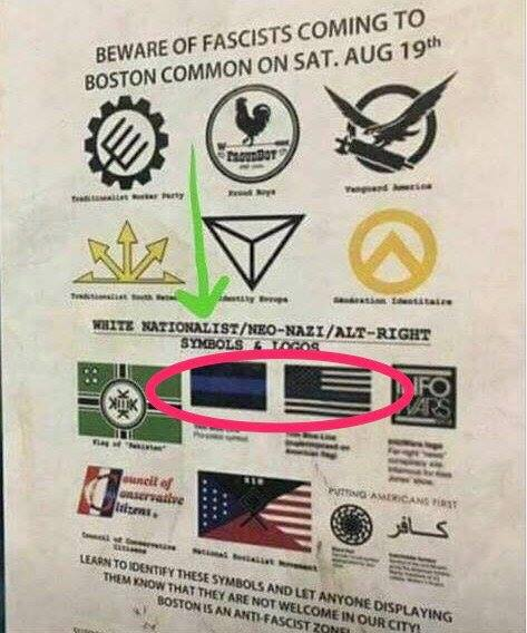 Thin Blue Line Flag Declared Nazi Symbol