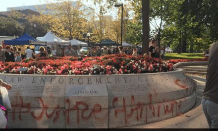 Wisconsin Police Memorial Vandalized