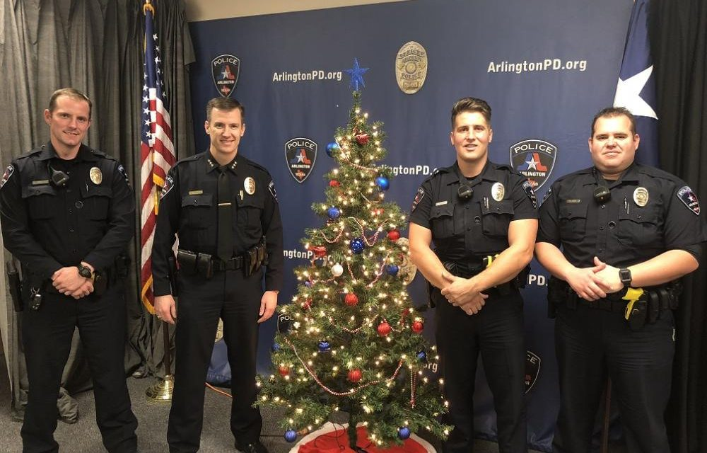 Arlington Police Chief Works Christmas Day For Contest Winning Officers
