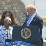 President Trump Consoles 90 Year Old Mother Of Slain NYPD Officer