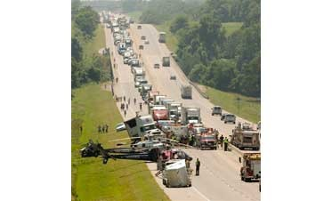 9 killed in Okla. turnpike traffic wreck
