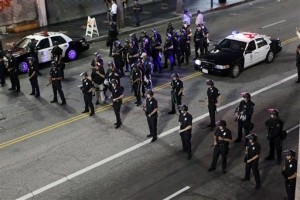 Block Party Invite Causes Crowd to Clash with Police on Hollywood Boulevard