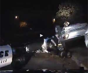 Burglary Suspects Flee, Rollover [Video]