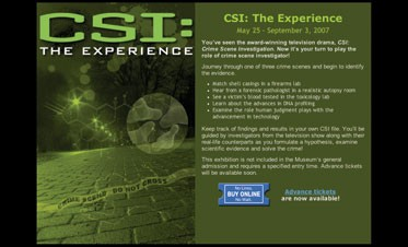 CSI Museum Project Exhibits the Latest in Forensics