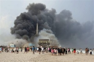 New Jersey Officers Injured During Boardwalk Fire