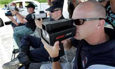 Officers Test Laser Speed Guns to Bolster Cases