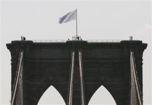 Police Investigate Brooklyn Bridge Flag Swaps