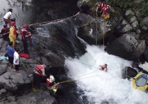 Washington Deputies and Firefighters Save Swimmer Trapped in Waterfall
