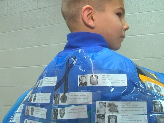 100th Day Class Project Honors Fallen Officers