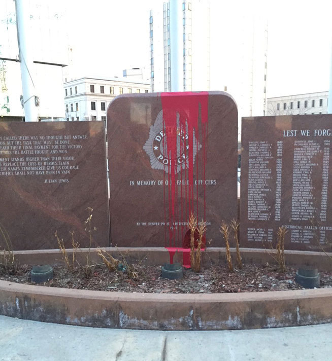 Denver Police Memorial Vandalized