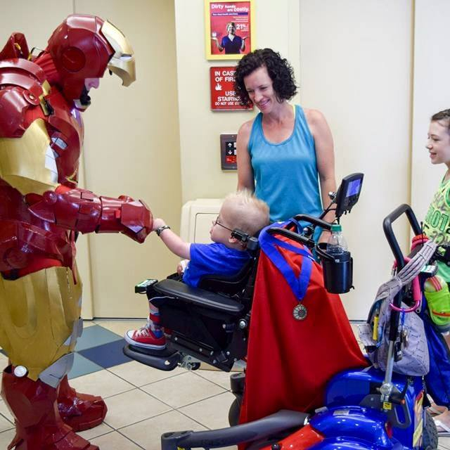 Cop Dresses as Ironman To Visit Sick Children