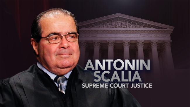 Supreme Court Justice Scalia Dead