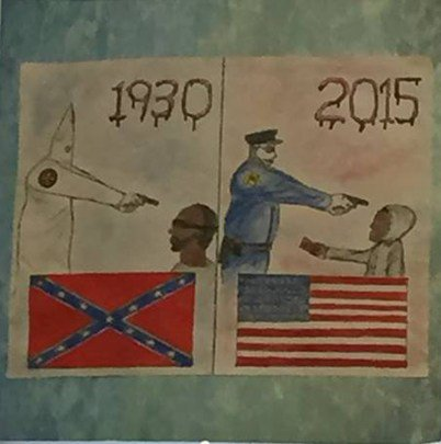 Anti-Police Art Shocks Father At School