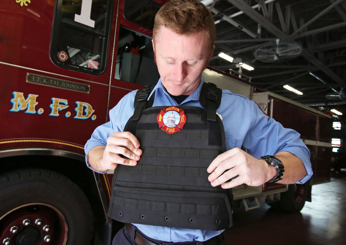 Wisconsin Firefighters Wear Ballistic Vests For Protection