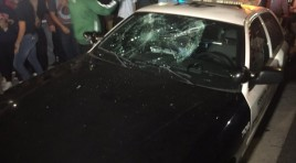 Anti-Trump Protestors Riot, Damage Police Car