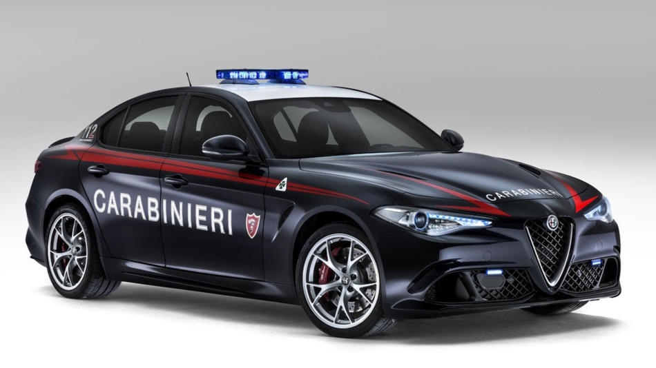 Alfa Romeo Police Car Ready For The Road