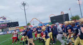 New York Police, Firefighters Fight During Charity Football Game