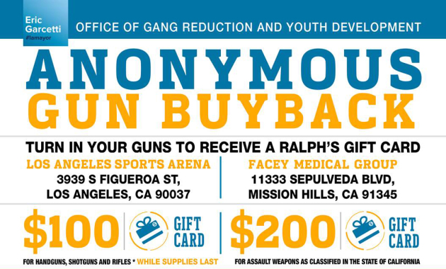 LAPD To Host Annual Gun Buyback