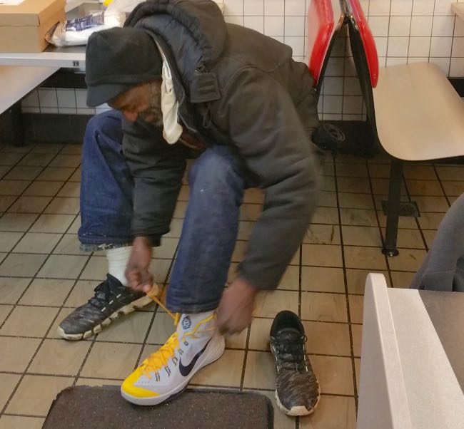 Police Officers Turn to NBA to Help Find Size-17 Shoes For Homeless Man