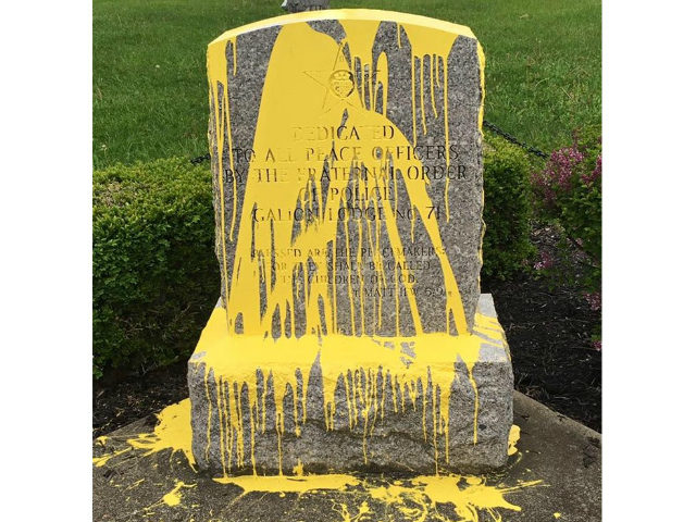 Ohio Police Memorial Vandalized