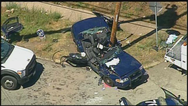 Police Officer Seriously Injured In Crash With Another Officer