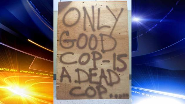 Police Issue Challenge To 'Dead Cop' Sign Maker