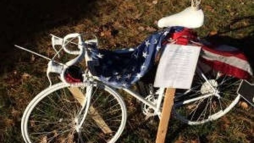 Bicycle Left As Memorial To Honor Death Of Navy SEAL Stolen