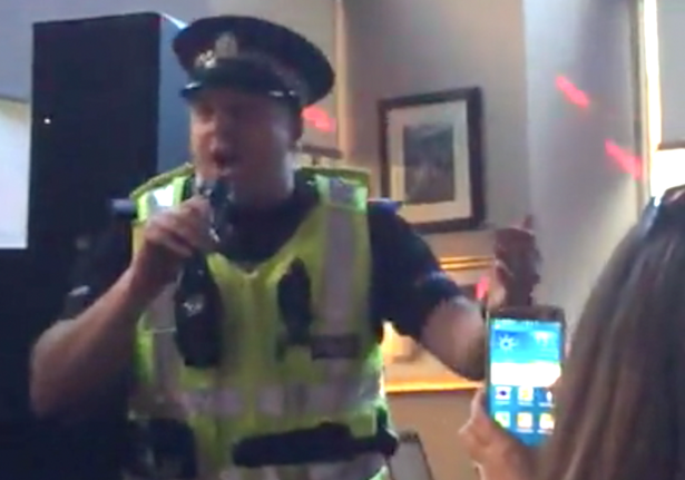 Scotland Karaoke Cop Steals The Show